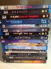 (15) Sci-Fi Fantasy 3D Blu-ray Movies Lentcular Slip No Digital Codes 4k TV