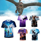 How To Train Your Dragon 3D Print T-shirt Adult/Kids Short Sleeve Top Casual Tee