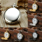 Antique Steampunk Pocket Quartz Watch Pendant Necklace Vintage Chain Gifts image