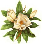 Внешний вид - Magnolia White Green Flower Select-A-Size Waterslide Ceramic Decals Tx