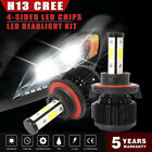 1820W 273000LM H13 9008 4-sides LED Headlight Lamp Bulbs Kit High/low beam 6000k