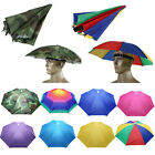Women Men Foldable Sun Rain Umbrella Hat Fishing Camping Hiking Cap Summer Sport