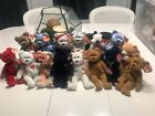 Collection Of Used/new Rare Teddy Beani Babies
