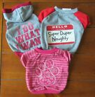GREAT CHOICE dog shirts: Super Duper Naughty, I DO WHAT I WANT & other, Size S