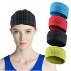 Men Women Wide Hair Band Elastic Headband Fitness Yoga Basketball Sweathand