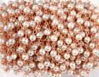 10 Ft. 3-3.5 mm Pearl Hydro Beads, Rose Gold Plated Wire Rosary Beaded Chain