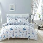 Charlotte Thomas Salcombe Design Reversible Duvet Set or Curtains White & Blue