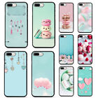 Macaron smile Soft TPU Black Phone Case for iphone XS Max XR X 8 7 6 plus