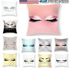 Eyelash Linen Cotton Pillow Case Cushion Cover Sofa Home Decor Square18'' Shiny image