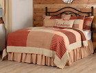 RORY SCHOOLHOUSE RED QUILT -choose size & accessories- Farmhouse Bedding VHC image