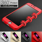 360 Luxury Case For iPhone 6 7 8 5S XS XR Cover Shockproof Hybrid Tempered Glass