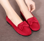 Spring old Beijing cloth shoes women's shoes flat shoes single bow casual shoes