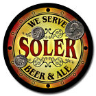 Soler Family Name Drink Coasters - 4pcs - Wine Beer Coffee & Bar Designs