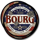 Bourg Family Name Drink Coasters - 4pcs - Wine Beer Coffee & Bar Designs