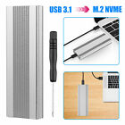 NVMe PCIE USB3.1 SSD/HDD Enclosure M.2 to USB Type C 3.1 Hard Drive Case Cover