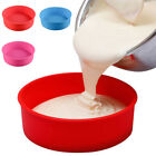 """6/8/9"""" Silicone Round Cake Pan Pastry Muffin Bread Bakeware Tray DIY Mould USA"""