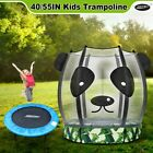 Genki Kids Trampoline Round Mini Gym Exercise Safety Indoor Outdoor Jumping
