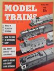 Model Trains 1956 October Freight and Passenger Station Painting & lighting Flag