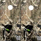 Cornhole Wraps - Bow Hunting Grim Reaper with Skull Camo Background - Set of 2