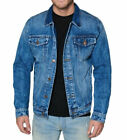 Men's Red Label Premium Faded Denim Cotton Jean Button Up  Slim Fit Jacket
