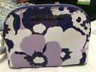 Michael Kors Jet Set Travel Pouch Cosmetic Case in Floral Saffiano Leather $98