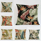 "18"" Sofa Home Decor Square Cushion Cover Throw Pillow Case Tropical Plant Leaves image"