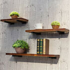 Home Kitchen Wall Shelf Floating Organization Wood Board Storage Rack Ornament
