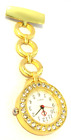 Custom engraved personalised nurses fob watch, quartz movement in gift pouch PM