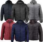 Maximos Men's Slim Fit Packable Puffer Lightweight Hooded Zip Insulated Jacket