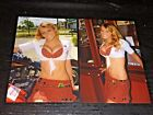 LOT (2) TILTED KILT sexy hooters babes 4x6 GLOSSY PHOTO SET ~ amateur candid #D6