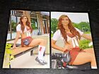 LOT (2) TILTED KILT sexy hooters babes 4x6 GLOSSY PHOTO SET amateur candid #D10