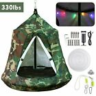Hanging Tree Tent Waterproof Swing Play House Portable Hammock Chair with LED US