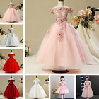 Flower Girl  Dress Lace Applique Kids Baby Party Wedding dreses Child Dress
