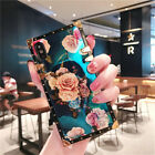 Square Flower Pattern Case Cover For Sumsung Note 9 iPhone XS Max XR XS 8 Plus 7