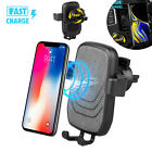 Wireless Car Charger Automatic Clamping Fast Charging Mount For iPhone Samsung