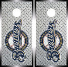 Milwaukee Brewers Cornhole Wrap MLB Decal Vinyl  Gameboard Skin Set YD367 on Ebay