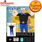 CA1007 Mens Popeye Sailor Man Humourous Cartoon Adult Costume Muscle Arms Hat