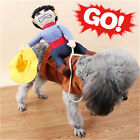 S-XL Pet Cat Dog western cowboy rider Clothes Clothing Cosplay Costume Party GT