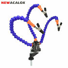 NEWACALOX 3rd Helping Hand Tool Forked Table Clamp Solder PCB Stand Flexible Arm