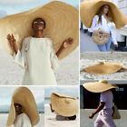 Large Sun Hat Beach Holiday Anti-UV Sun Protection Foldable Straw Cap Cover US