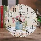 Vintage Style Non-Ticking Silent Antique Wood Wall Clock for Home