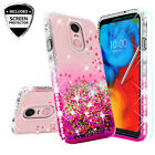 For LG Stylo 4/Q Stylus Cute Ring Stand Glitter Bling Phone Case w/Kickstand