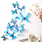 12pcs 3D Butterfly Wall Stickers Art Decal Home Room Xmas Decorations Decor Kids