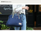 Lady Bag Canvas Hand Bag Daily Used Tote Dark Blue Square Bag