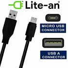 Micro USB Cable Hgh Speed Charge And Data Sync Cable Lead USB 2.0 Black & White