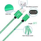 2M Braided Aluminum Micro USB Data&Sync Faster Charger Cable For Android Phone