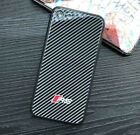 AUDI RS iPhone Cases Sport Carbon Fiber Tempered Glass Fits 7,X,7+,8,8+,X,XR,Xs