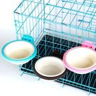 Pet Dog Puppy Plastic Hanging Food Water Cage Crate Mount Bowl Feeder Dispensers