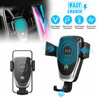 QI Auto Clamping Wireless Car Charger Fast Charging Mount Air Vent Phone Holder