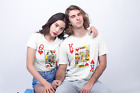 His & Hers King Queen Of Hearts T-Shirt Mens Womens Matching Valentines Day Tee